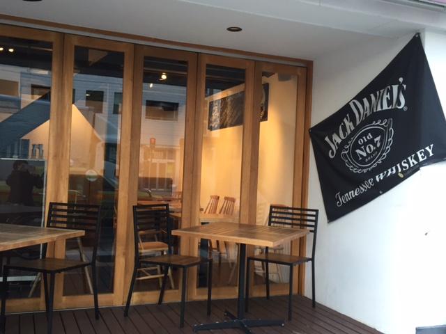 カフェの旗