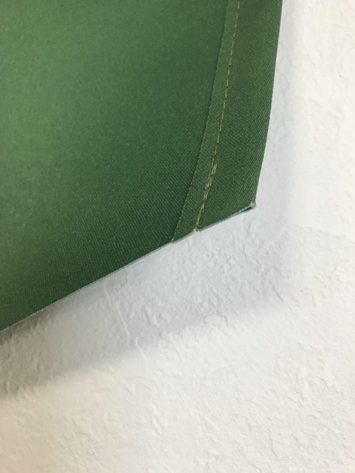 カフェ看板 吊り下げ旗のヒートカット処理部分